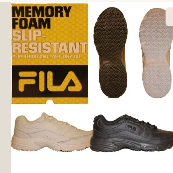 43c871be38 Fila Workshift Slip Resistant Memory Foam Shoes 9 NWT