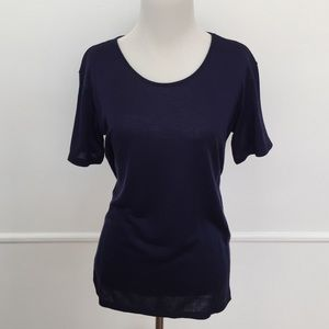A/X Armani Exchange Tops - A/X Armani Exchange Midnight Purple Knit Tee