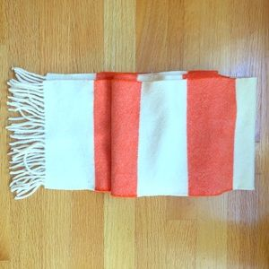 NEW J.Crew rugby striped fringe scarf!