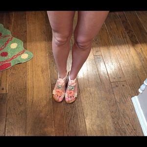 Patrizia Harlequin Peach Wedge Sandal