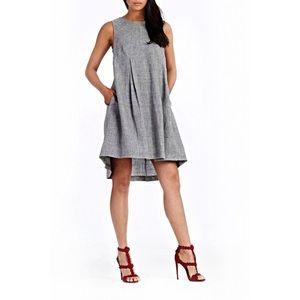 Donna Morgan Dresses & Skirts - Donna Morgan Kennedy Linen trapeze gray dress
