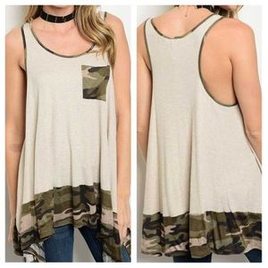 Tops - New - Tan Olive Top