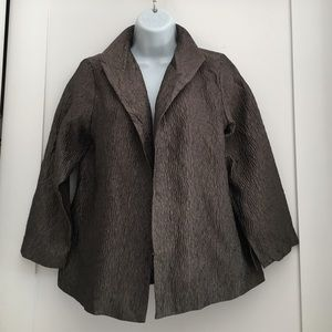 Eileen Fisher Jackets & Blazers - Eileen Fisher Charcoal Gray Shell Jacket size XS