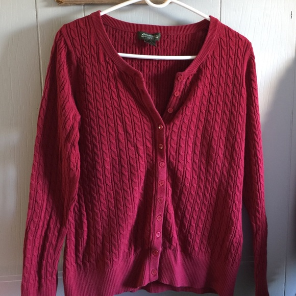 Eddie Bauer - EDDIE BAUER ❤ ❤️️Ladies red cardigan sweater ...
