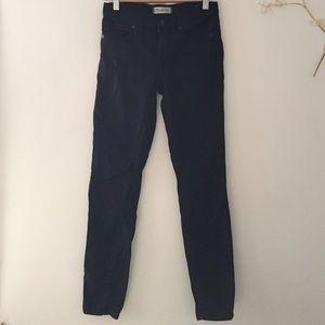 Madewell black skinny sateen jeans, size 24