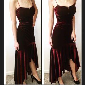 Jodi Kristopher Dresses & Skirts - Jodi Kristopher red/maroon velvet evening dress