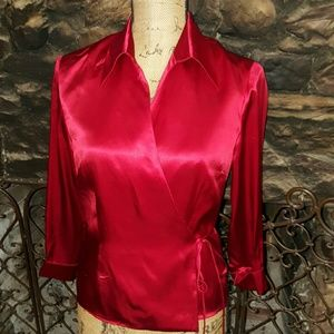 Ice Tops - ICE silk wrap-around top Great for the holidays!