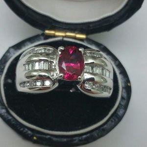 Jewelry - JCR 1.75ct Tourmaline & Diamonds 14k gold Ring
