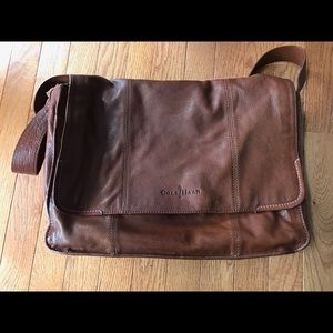 Cole Haan leather messages bag