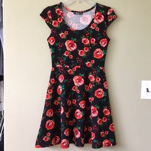 Pinc Premium Dresses & Skirts - 🌷Pinc Pretty Rose Black Flowy Semi Formal Dress