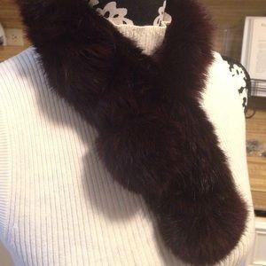 Preston & York Accessories - Fur neck scarf