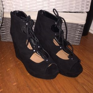 Shoes - Wedge platforms.