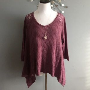 Anthropologie everleigh loose lace sweater
