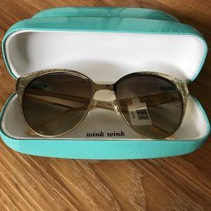 kate spade Accessories - Kate spade gold glitter Marietta sunglasses