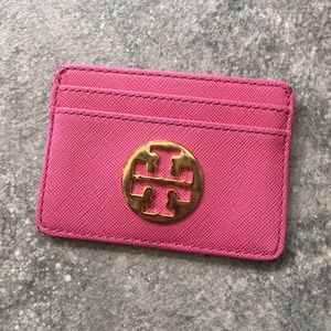 Pink Tory Burch Card Holder