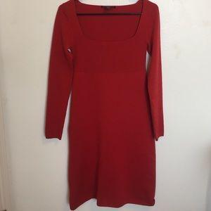 MaxMara Dresses & Skirts - MaxMara long sleeve red cashmere dress