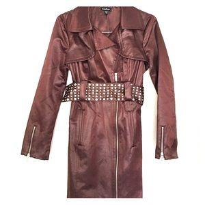 Bebe copper trench coat