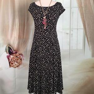 Jessica Howard Dresses & Skirts - Jessica Howard Black With White Polka Dots Dress