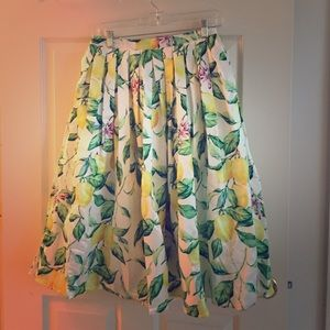 Chicwish Lemon Midi Skirt