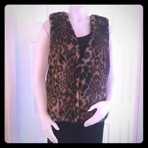 Michael Kors Leopard Faux Fur Vest NWT $300