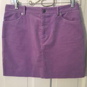 Ralph Lauren Black Label Dresses & Skirts - Ralph Lauren Lavender Velvet Mini Skirt