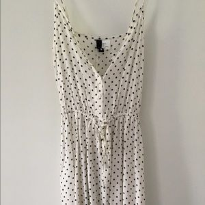 White polka dot sundress. Size 4.