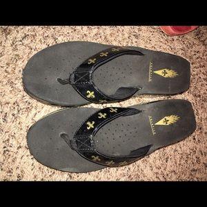 Volatile Shoes - New Orleans saints Volatile Sandals