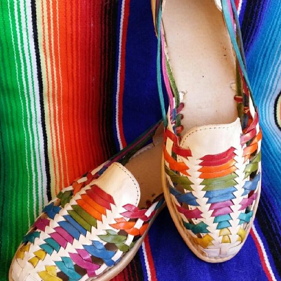 1615f0abfc99 Rainbow Mexican Huarache Sandals for Women 8. M 5844812399086ab48c001a57