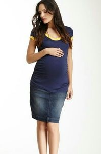 Lilac Clothing Dresses & Skirts - NEW Denim Jeans Skirt M NWT Lilac Maternity Cute!
