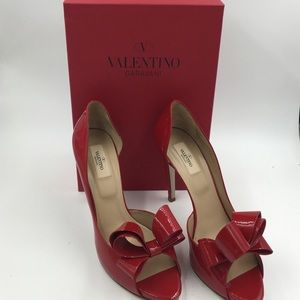 Valentino Shoes - Valentino D'orsay pumps in red patent with box