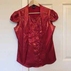 BCBG Max Azria red blouse