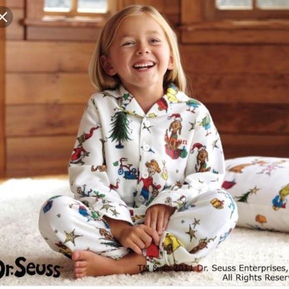 Pottery Barn Kids Pajamas New With Tags Pottery Barn Size 4 Grinch Pajamas Poshmark
