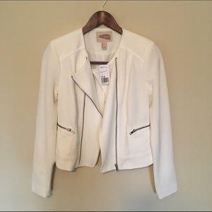 Forever 21 // White Zip Jacket
