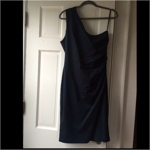 NWT Banana republic navy one shoulder dress