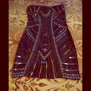 Holiday Dress! ROMEO JULIET Blk embellished M