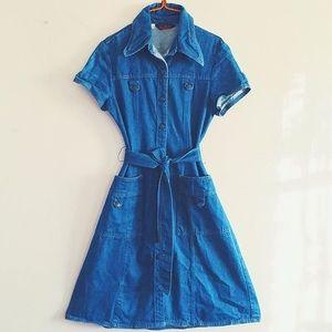 70's vintage Landlubber denim dress