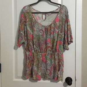 Never worn Simply Be peplum style boho paisley top