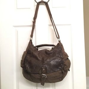 Gap Canvas & Leather Messenger Bag