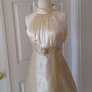 VIVIENNE TAM Sleeveless Gold Dress S 0