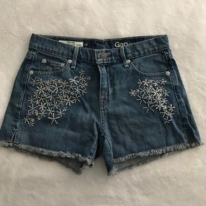 Embroidered Gap shorts