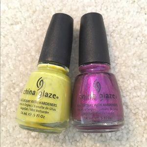 2 china glaze nail polishes