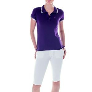 Mia Mia Girl Junior Polo Shirt, Purple