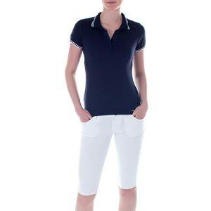 Mia Mia Girl Junior Polo Shirt, Navy Blue
