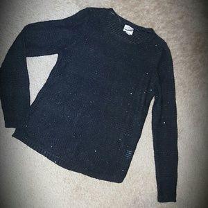 St. John's Bay Sweaters - Black Sparkly Sweater NEW Glitter Sequins Medium