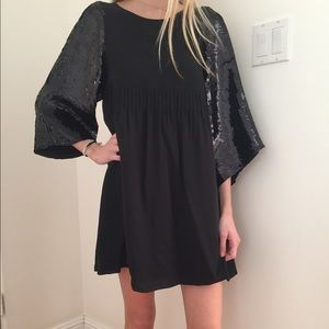 See By CHLOÉ Black Sequin Party Dress