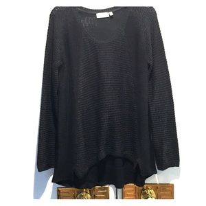 RD Style. Hi-low sweater Black