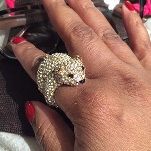 kate spade Jewelry - Kate Spade Cold Comforts Polar Bear Jewel Ring