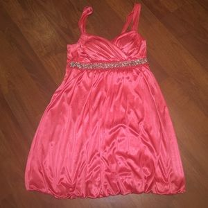 My Michelle Dresses & Skirts - Coral Beaded Dress - Size S