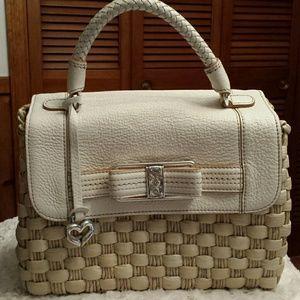 Brighton  Handbags - NWOT Brighton ❤Bonita Straw/Leather Bag