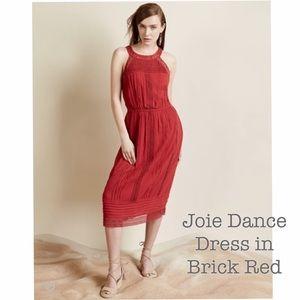 "Reformation Dresses & Skirts - ❤️Joie ""Dance"" dress brick red M eyelet insets NWT"